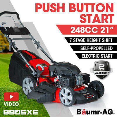 AU649 • Buy PRESALE Lawn Mower 21  248cc Electric Start Petrol Self-Propelled Lawnmower