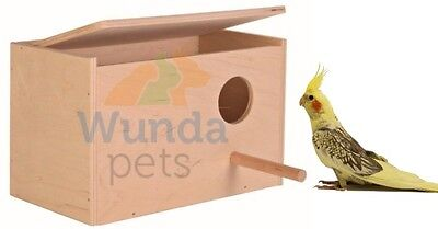 Trixie Wooden Cockateil Nest Nesting Box With Perch Cage Avairy Opening Top 5631 • 14.99£