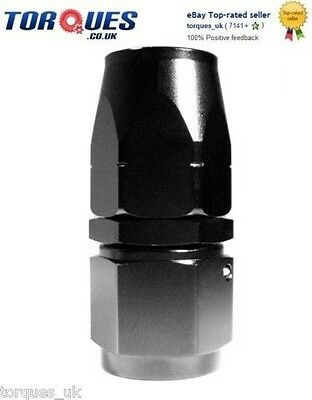 £7.99 • Buy AN -8 (AN8) STRAIGHT Swivel Seal BLACK Hose Fitting