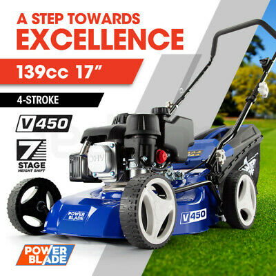 AU270 • Buy 【EXTRA15%OFF】POWERBLADE 17  Lawn Mower 139cc Petrol Powered 4 Stroke Steel
