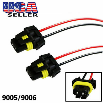$6.64 • Buy Universal 9005 9006 Adapter Wiring Harness Sockets Wire For Headlights Fog Light