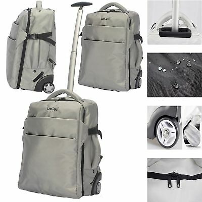 £40.99 • Buy 3in 1 Lightweight Wheeled Cabin Travel Bag Backpack Hand Luggage Trolley Holdall