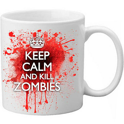 £8.99 • Buy Keep Calm And Kill Zombies Novelty Blood Spatter Bloody Present Gift Mug