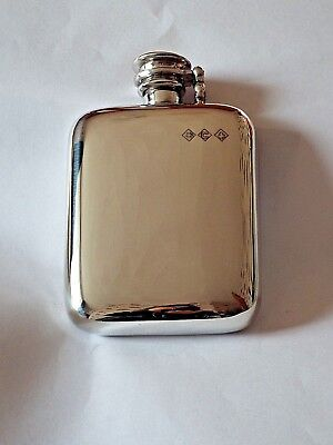 £32.99 • Buy Sheffield Pewter 4oz Stamped Pewter Hip Flask With Captive Top#FREE FUNNEL
