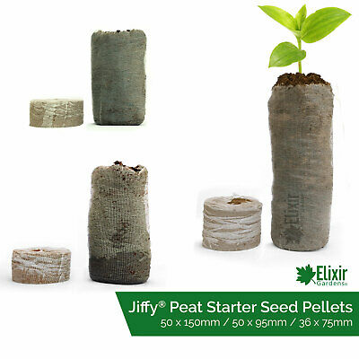 Jiffy 7 Extra Deep Peat Pellets | Seed Propagation Compost Hydroponic Organic • 4.99£