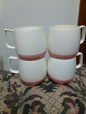 $40.50 • Buy Choice Of 4 Vintage Drinking Cups Thermo  Pink/yellow Bopp-decker Plastics