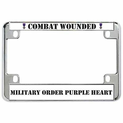 $17.99 • Buy COMBAT WOUNDED MILITARY ORDER PURPLE HEART Military Metal Motorcycle License Pla