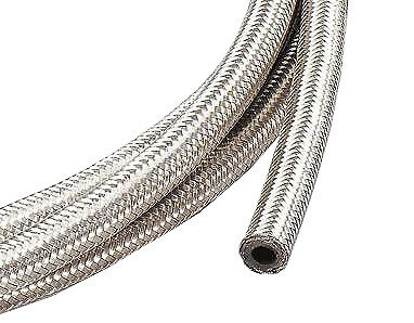 £7.75 • Buy 1m Of 6mm (1/4 ) Fuel Hose Stainless Steel Braided Length Race Car SAE30R6/R7