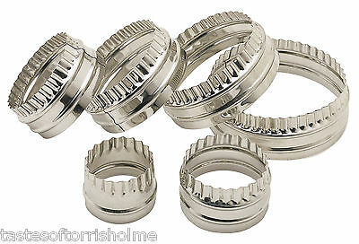 £11.99 • Buy Kitchen Craft Set Of 6 Large Fluted & Plain Round Biscuit, Pastry Cookie Cutters