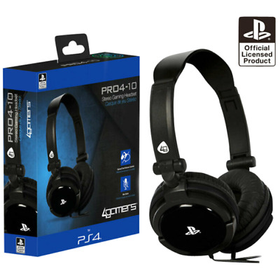 $ CDN29.37 • Buy PS4 Gaming Chat Headset With Mic BLACK Officially Licensed PRO4-10 PlayStation 4