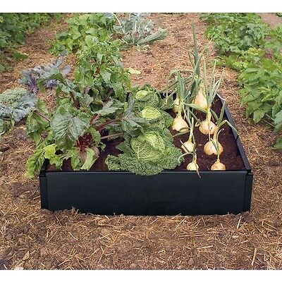 Raised Bed, Vegetable Garden Planter, Plastic Long Life Growbed Flower Herb Kids • 29.99£