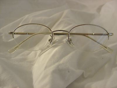 53e9cd7a73b Foster Grant Reading Glasses 1.00 Silver Metal Half Rimless Spring Hinged  Temple • 11.49