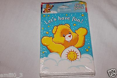 New  Care Bears Classic 8 Invitations Party Supplies   • 2.99£