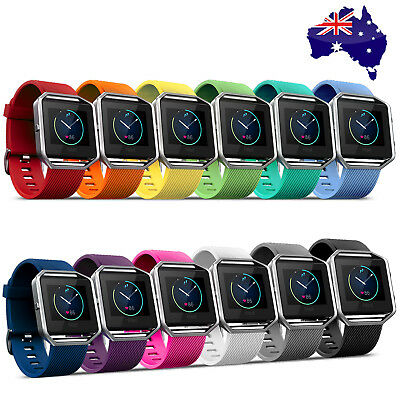AU7.95 • Buy Replacement Silicone Gel Band Strap Bracelet Wristband For FITBIT BLAZE Sport