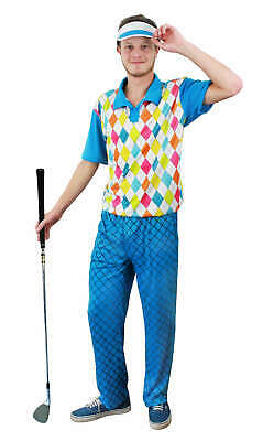 Mens Golfer Golfing Fancy Dress Outfit Stag Party Do Pub Night Out Uniform  • 19.99£