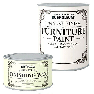 £14.52 • Buy Rust-Oleum Chalky Finish Wood Furniture Paint Smooth Matt Coating Water Based