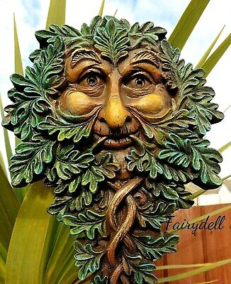£13.95 • Buy Oak Guardian Green Man Of The Forest Wall Plaque ~tree Spirit Wood Sprite ~pagan