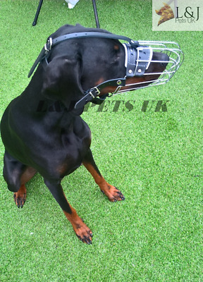 £22 • Buy New Strong  Metal Wire Basket Dog Muzzle For Doberman , Malinois And Other Dogs