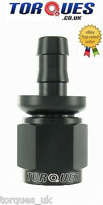 £4.59 • Buy AN -6 (AN6) STRAIGHT To 8mm 5/16  Barbed Fitting Black