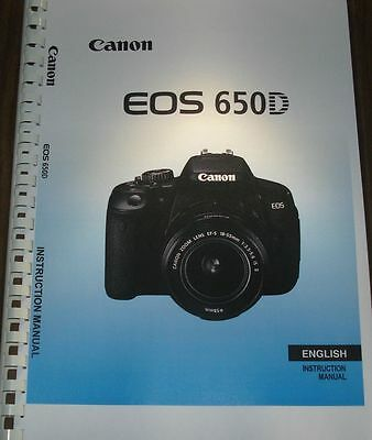 £8.99 • Buy Canon  Eos 650d User Manual Guide Instructions  Printed 376 Pages