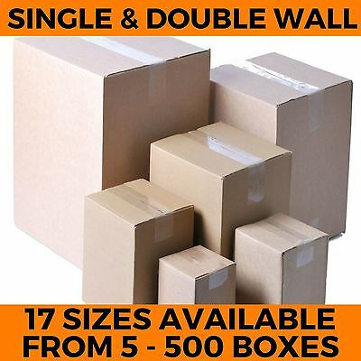 Strong New Cardboard Boxes Single & Double Wall Postal Packing Mailing Cartons  • 11.06£