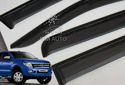 AU53.49 • Buy Injection Weather Shields,Window Visors For Ford Ranger PX Dual Cab  2012-2020