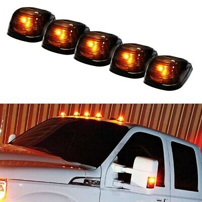 $34.19 • Buy (5) Black Smoked Cab Roof Marker Running Lamps W/ Amber LED Lights For Truck 4x4