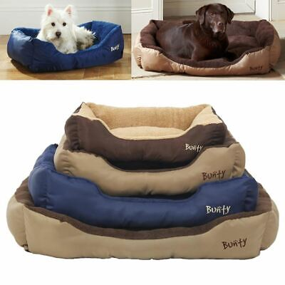Bunty Deluxe Soft Washable Dog Pet Warm Basket Bed Cushion With Fleece Lining • 15.99£