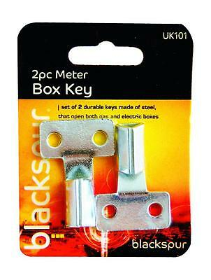 £2.29 • Buy 2 X Gas Electric Home Office Utility Meter Box Steel Triangle Key Ring Tool