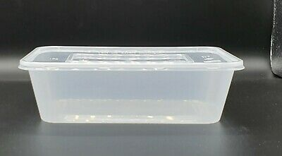 £8.99 • Buy 25 X PLASTIC FOOD GRADE STORAGE CONTAINERS 650ml - Microwave & Freezer Safe (L)
