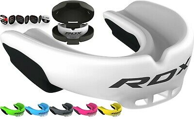 £917.99 • Buy RDX Gel Gum Shield & Case Mouth Guard Boxing MMA Junior Adult Rugby Box White