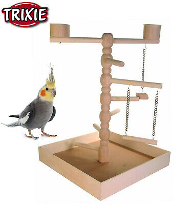 Trixie Wooden Small Parrot Parakeet Cockatiel Playground Play Stand Cage 5658 Rm • 19.99£