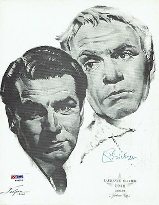 Laurence Olivier Signed Authentic Autographed 8.5x10.5 Print PSA/DNA #W98109 • 78.97£