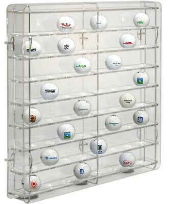 SORA Golf Ball Display Cabinet, Back-Panel: Transparent, For 64 Golf Balls • 45.90£