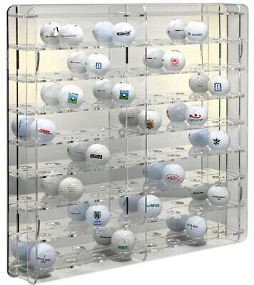 SORA Golf-Ball Display Cabinet, Back-Panel: Reflective, For 64 Golf-Balls • 50.40£