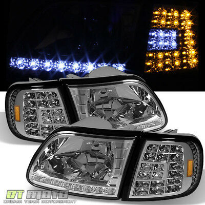 $105.99 • Buy 1997-2003 Ford F150 Expedition LED Headlights+LED Corner Signal Lights Lamps Set