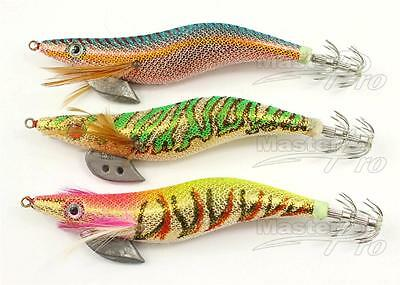 AU7.92 • Buy 3 X High Quality Fishing Squid Jigs Size 3.0 On Different Colours, Fishing LureB