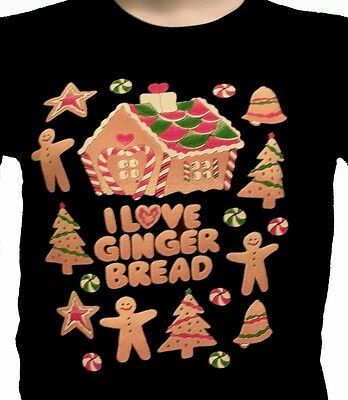 $14.99 • Buy I Love Gingerbread Holiday Shirt,  Ginger Bread House, Cookies & Men, Candy Cane