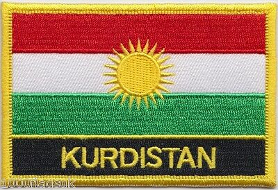 Kurdistan Flag Embroidered Patch - Sew Or Iron On • 4.50£