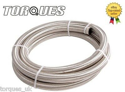 £8.99 • Buy AN-4 4AN 3/16  Stainless Steel Braided Fuel Oil Hose 1m