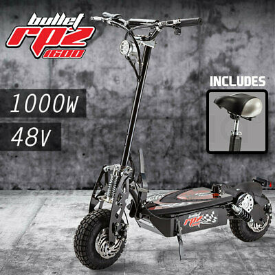 AU789 • Buy BULLET RPZ1600 Series 1000W Electric Scooter 48V - Turbo W/ LED For Adults/Child