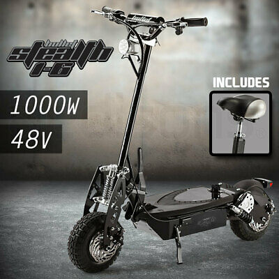 AU739 • Buy BULLET Stealth 1-6 1000W Electric Scooter 48V - Turbo W/ LED For Adult/Child