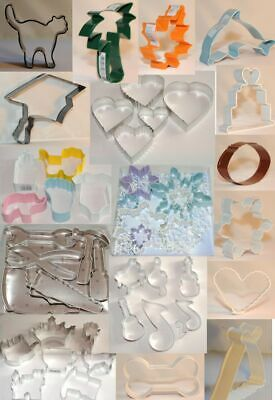 Cookie Cutter Cake Pastry Biscuit Cutters Over 50 To Choose UK Seller 1400+ Sold • 1.90£