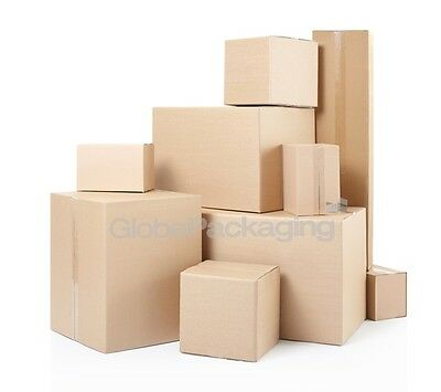 Brand New Single & Double Wall Cardboard Postal Boxes - Made From Recycled Paper • 6.29£