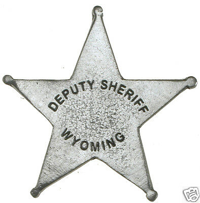 £7.21 • Buy DEPUTY SHERIFF WYOMING OLD WEST LAWMAN POLICE BADGE Obsolete Made In USA 22
