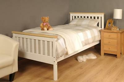 Single Bed In White Pine 3ft Single Bed Wooden Frame White Pine • 63.99£