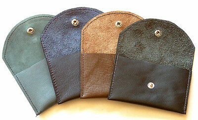$10.99 • Buy Leather Coin Change Pouch Purse Holder - Made In USA By Turtlecreek