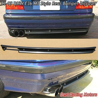 $56.99 • Buy M3 Style Rear Bumper Diffuser (ABS) Fits 91-99 BMW E36 3-Series