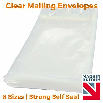 £5.24 • Buy Clear Mailing Plastic Polythene Mailing Packaging Bags Envelope Strong Self Seal