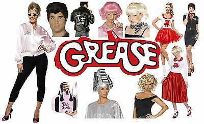 Official Licenced Grease Pink Lady/t-bird Jacket/costumes/wigs/glasses,all Sizes • 21.99£